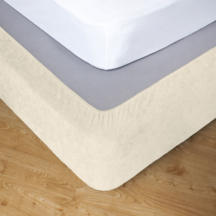 Ivory King Single Bed Stretch Bed Wrap Valance