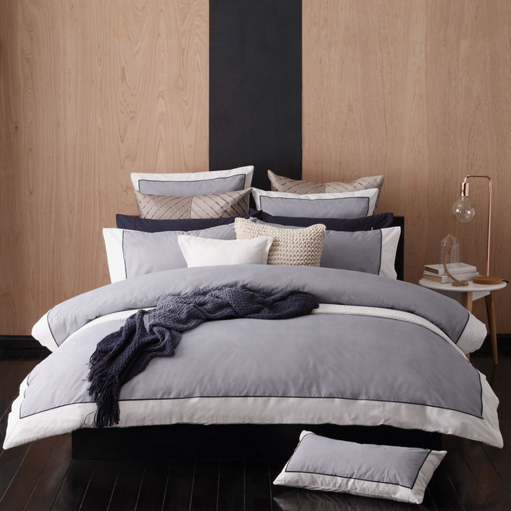 Essex Navy Quilt Cover Set by Logan and Mason