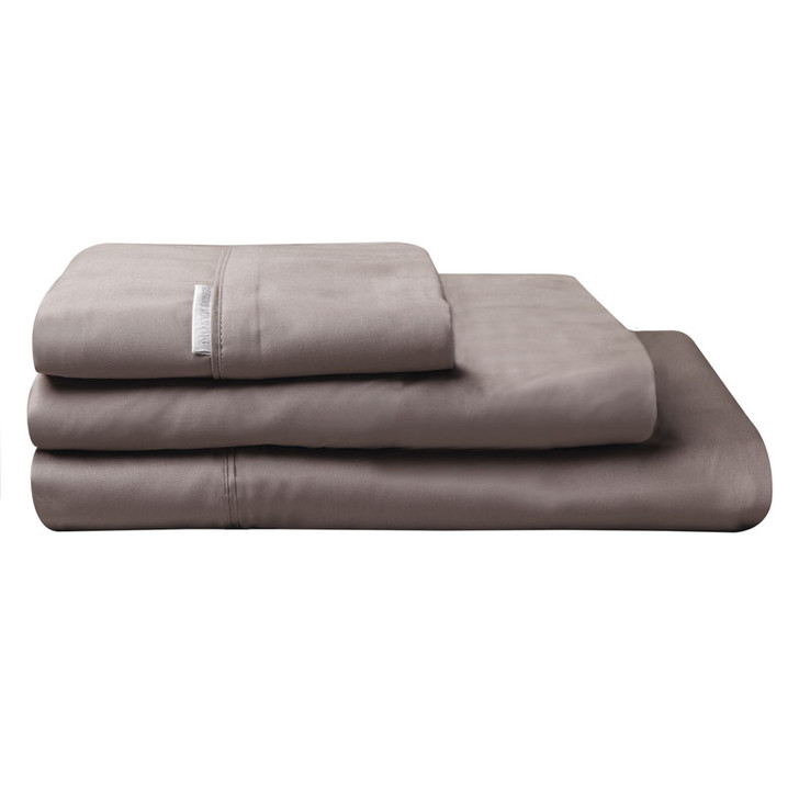 100% Egyptian Cotton Sateen Sheet Set 400TC Stone | King Bed