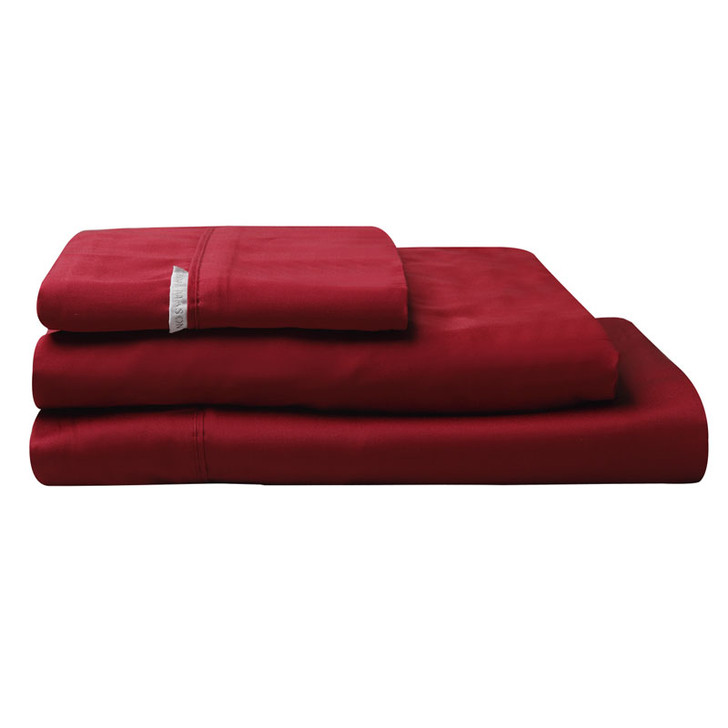 Logan and Mason Ruby Red Sheet Set | My Linen