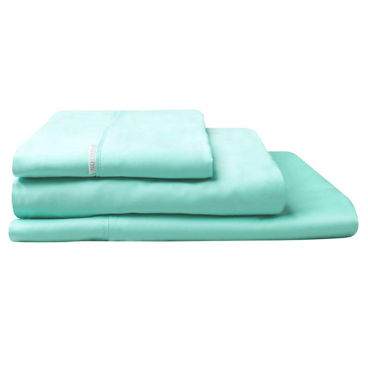 Logan and Mason Mist Green Sheet Set | My Linen