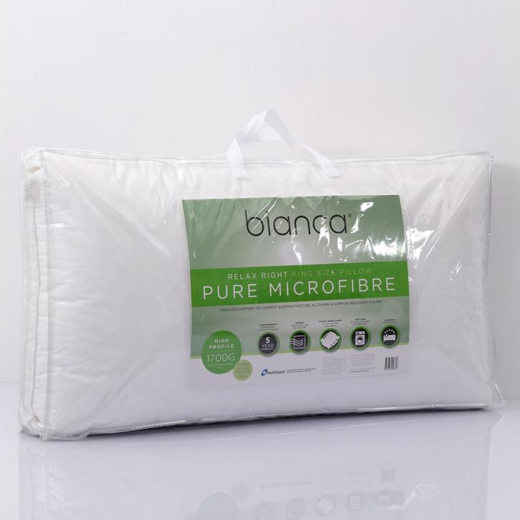 Bianca King Size Microfibre Pillow | My Linen