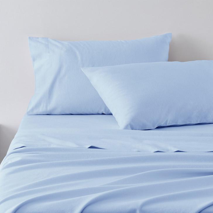 Jenny Mclean Abrazo Blue Flannelette Sheet Set | My Linen