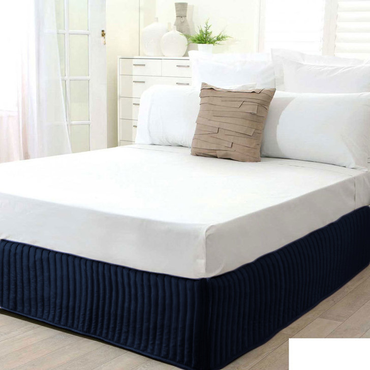 Ardor Navy Quilted Valance | My Linen