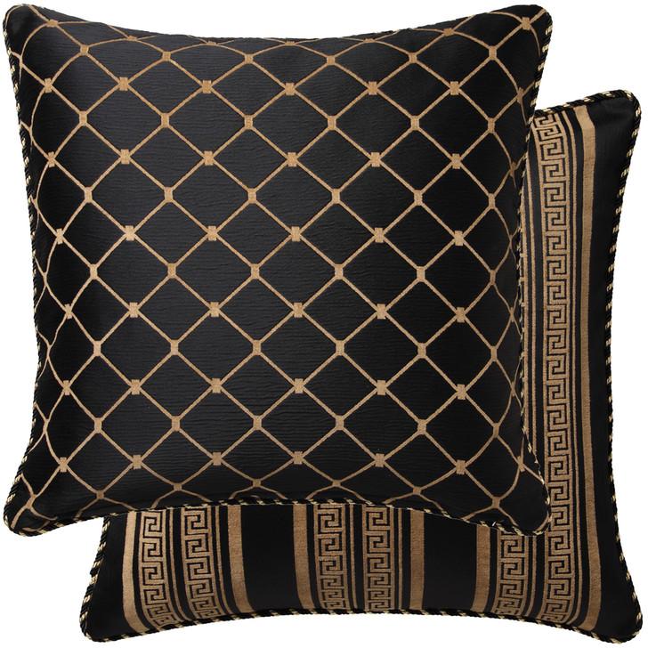 Davinci Massimo Black Trellis Euro Pillowcase | My Linen