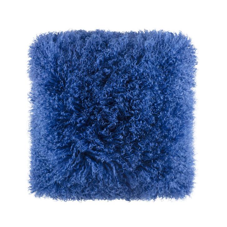 KAS Zayaa Blue Square Filled Cushion | My Linen