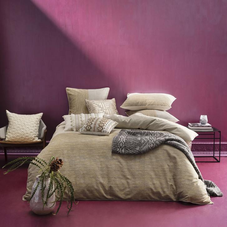 KAS Amara Gold Queen Bed Quilt Cover Set | My Linen
