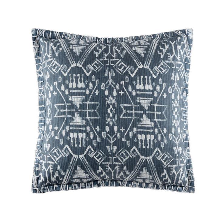 KAS Seko Indigo Square Filled Cushion | My Linen