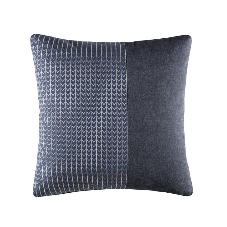 KAS Room Nash Denim Square Filled Cushion   My Linen