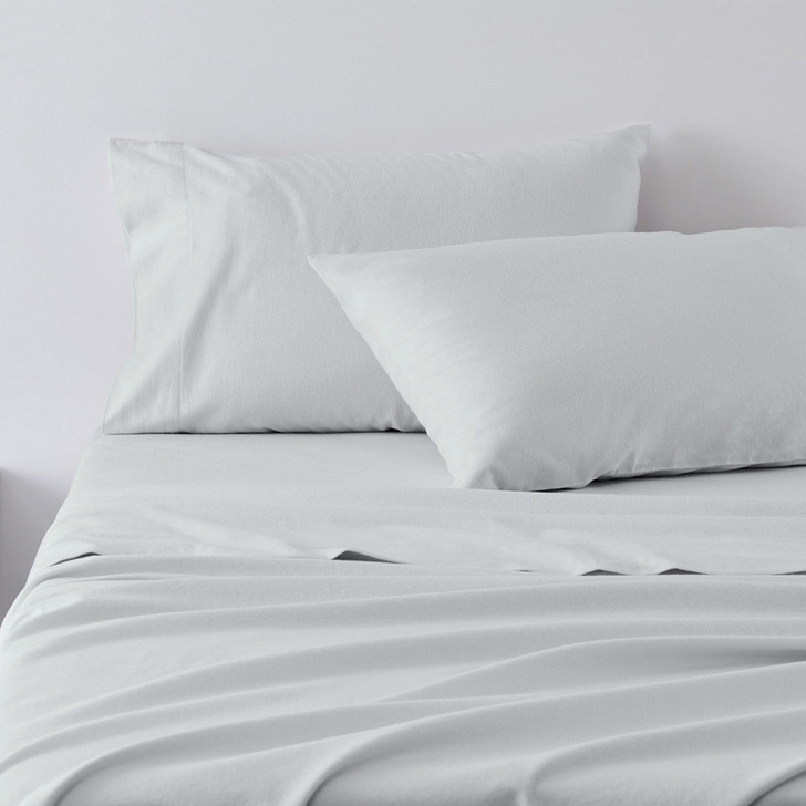 Jenny Mclean Abrazo Silver Flannelette Sheet Set | My Linen