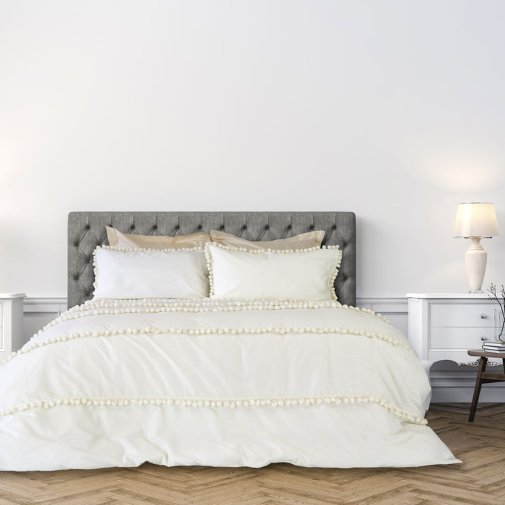 Ardor Ivy Ivory King Bed Quilt Cover Set | My Linen