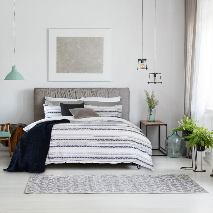 Ardor Idaho Navy Queen Bed Quilt Cover Set | My Linen