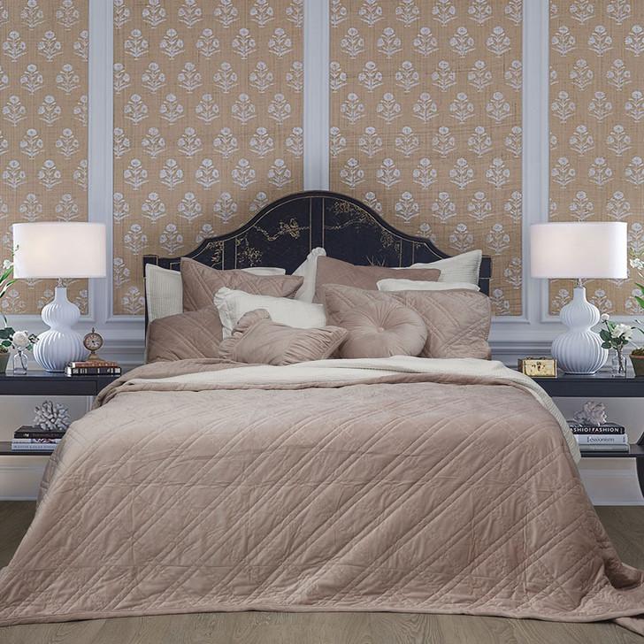 Macey and Moore Luxe Velvet Blush Bedspread Set   My Linen