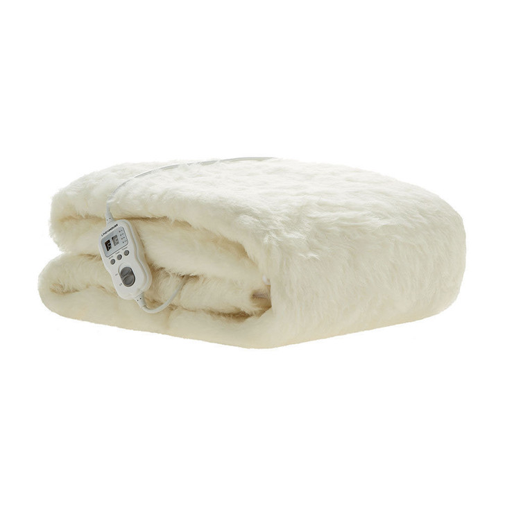 Linen House Electric Blanket Multi-Zone Australian Wool Queen Bed   My Linen