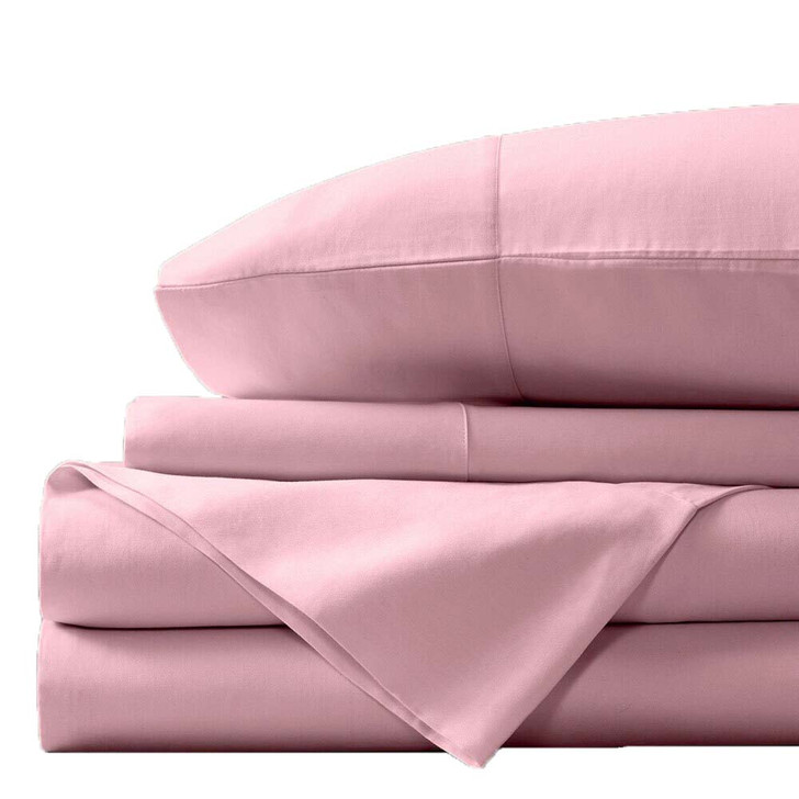 Concierge Luxury Bamboo Cotton Double Bed Sheet 400TC Pink | My Linen