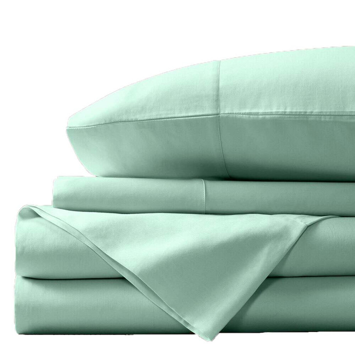 Concierge Luxury Bamboo Cotton King Single Bed Sheet 400TC Aqua   My Linen