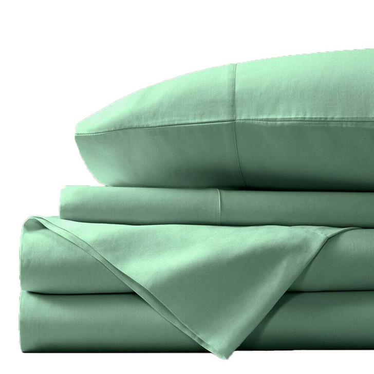 Concierge Luxury Bamboo Cotton Queen Bed Sheet 400TC Mint   My Linen