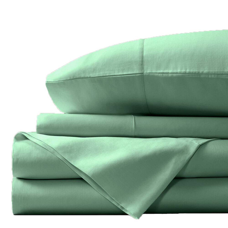 Concierge Luxury Bamboo Cotton King Bed Sheet 400TC Mint | My Linen
