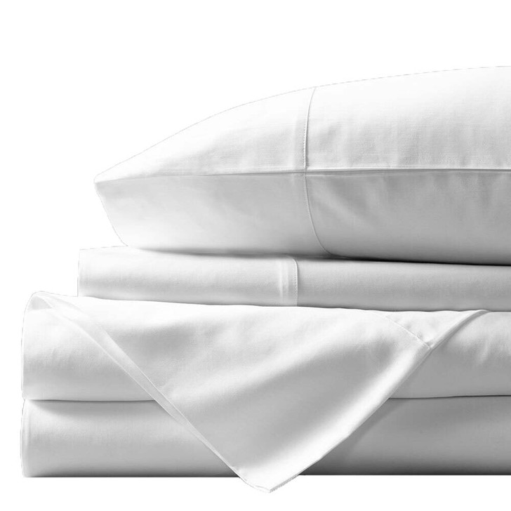 Concierge Luxury Bamboo Cotton Queen Bed Sheet 400TC White   My Linen