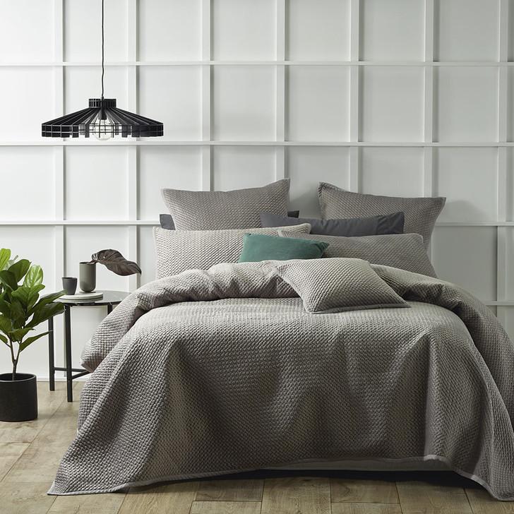 Bianca Queen / King Bed Harlow Stone Coverlet Set | My Linen