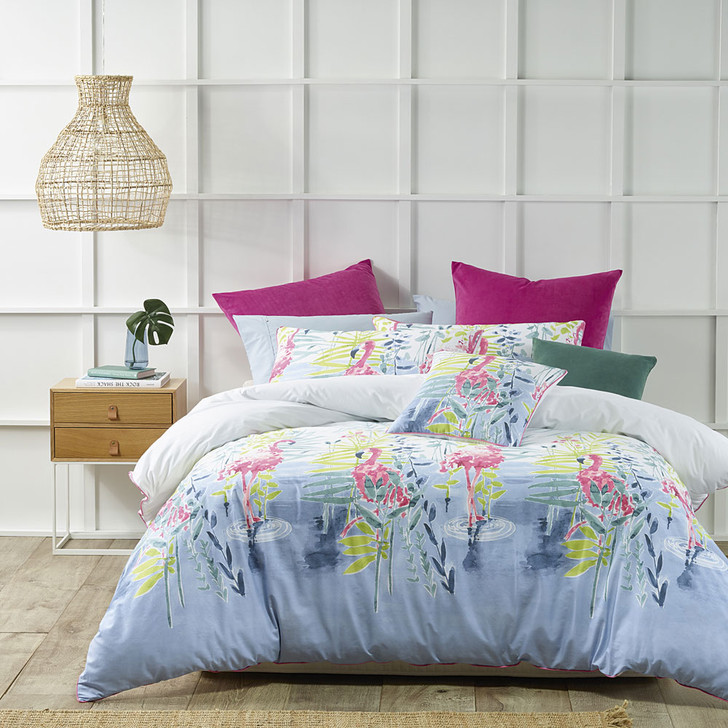 Bianca Lagoon Pink King Bed Quilt Cover Set | My Linen