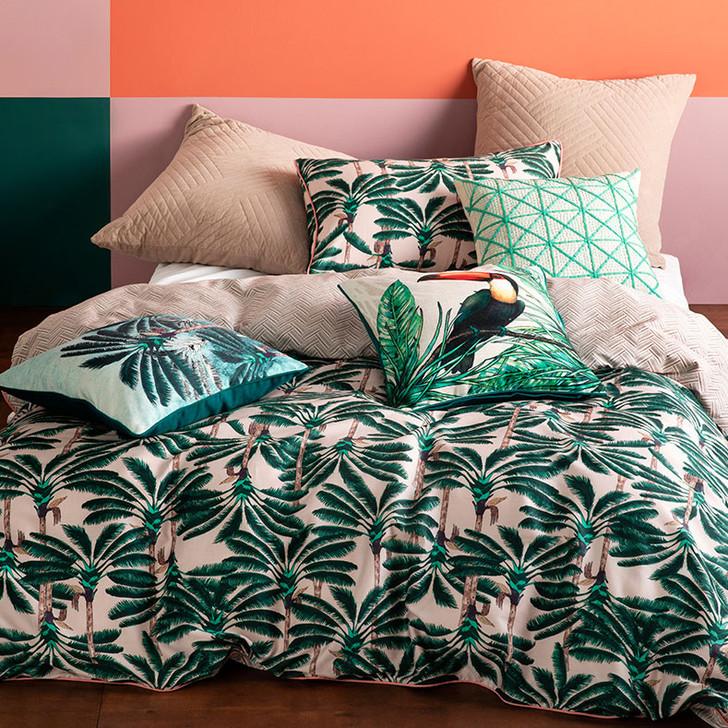 KAS Leolani Multi Double Bed Quilt Cover Set   My Linen