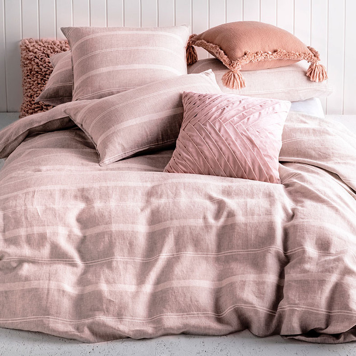 KAS Balmoral Blush Queen Bed Quilt Cover Set | My Linen
