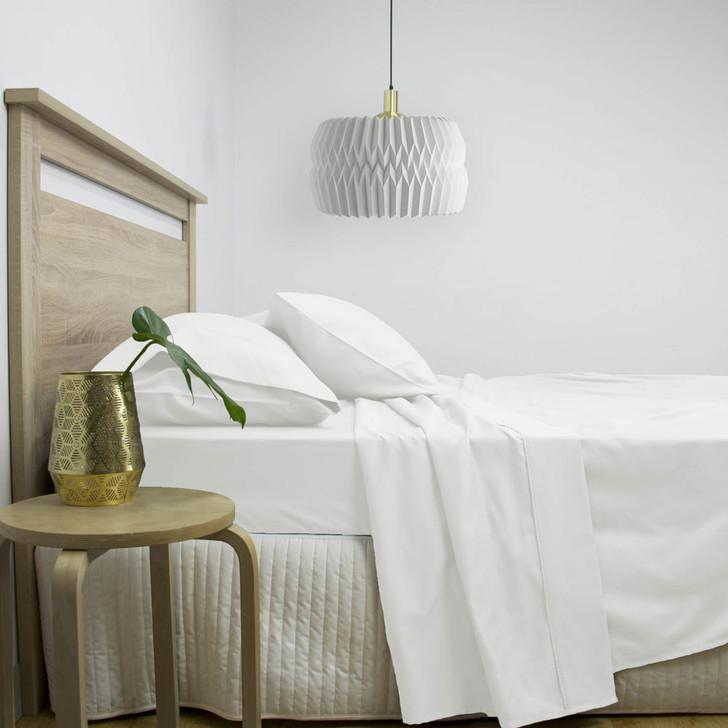 Gold Label Cotton Rich Queen Bed Sheet Set 3000TC White | My Linen