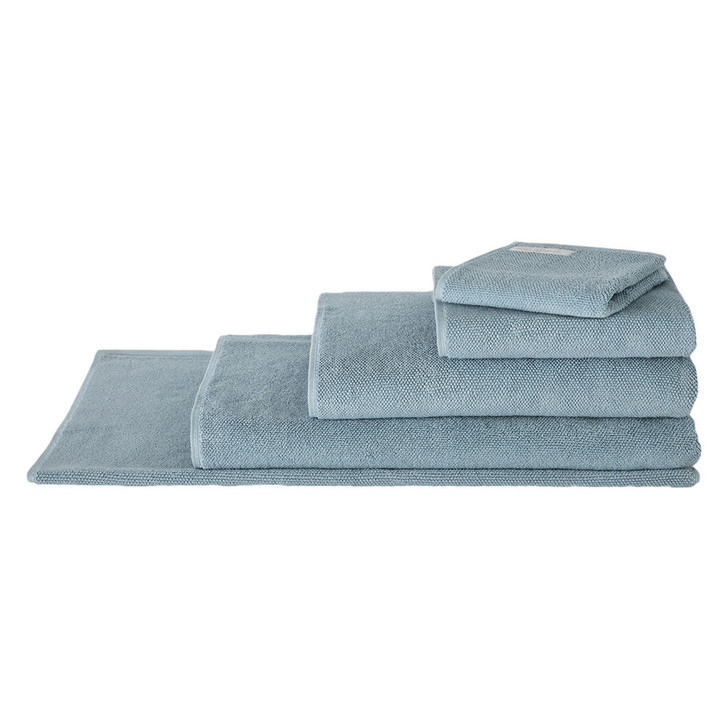 Sheridan 100% Combed Cotton Twist Towel Collection 7pc Bath Sheet Set Misty Teal | My Linen