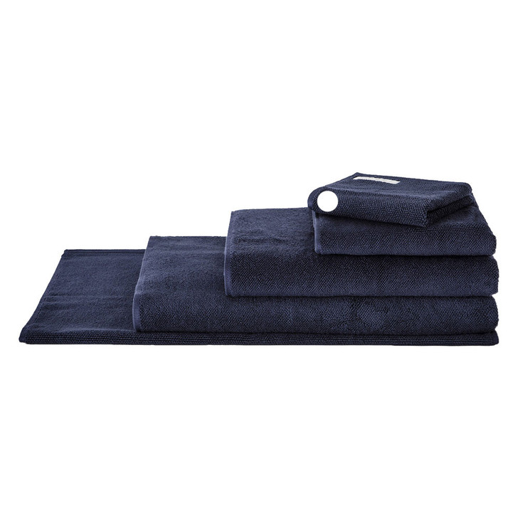 Sheridan 100% Combed Cotton Twist Towel Collection Face Washer Midnight | My Linen