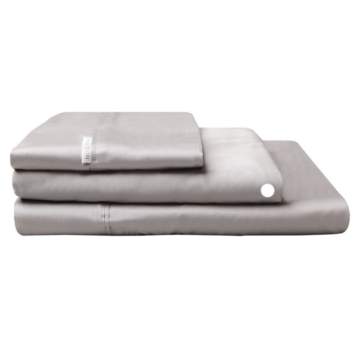Logan and Mason Egyptian Cotton Fitted Sheet Pewter | My Linen