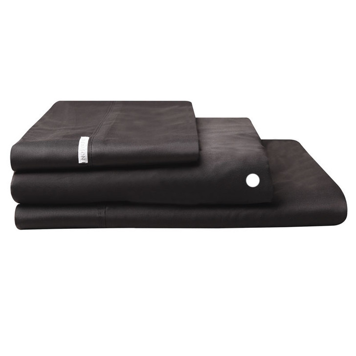 Logan and Mason Egyptian Cotton Fitted Sheet Granite | My Linen