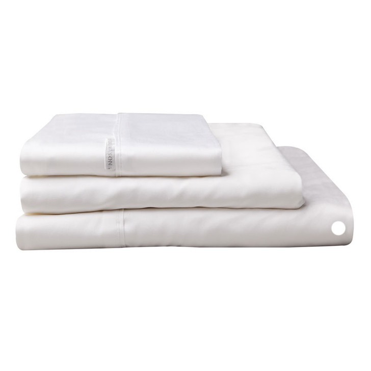 Logan and Mason Egyptian Cotton Flat Sheet White | My Linen