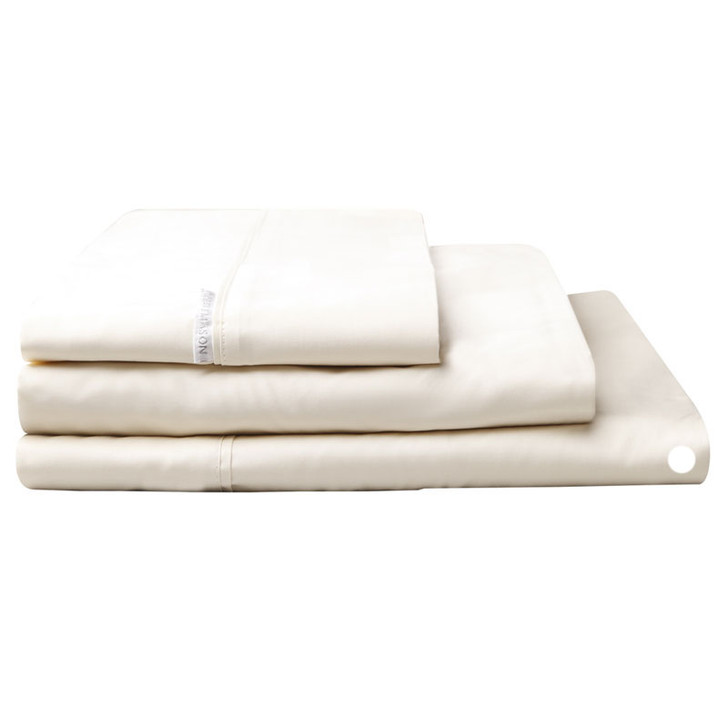 Logan and Mason Egyptian Cotton Flat Sheet Vanilla | My Linen
