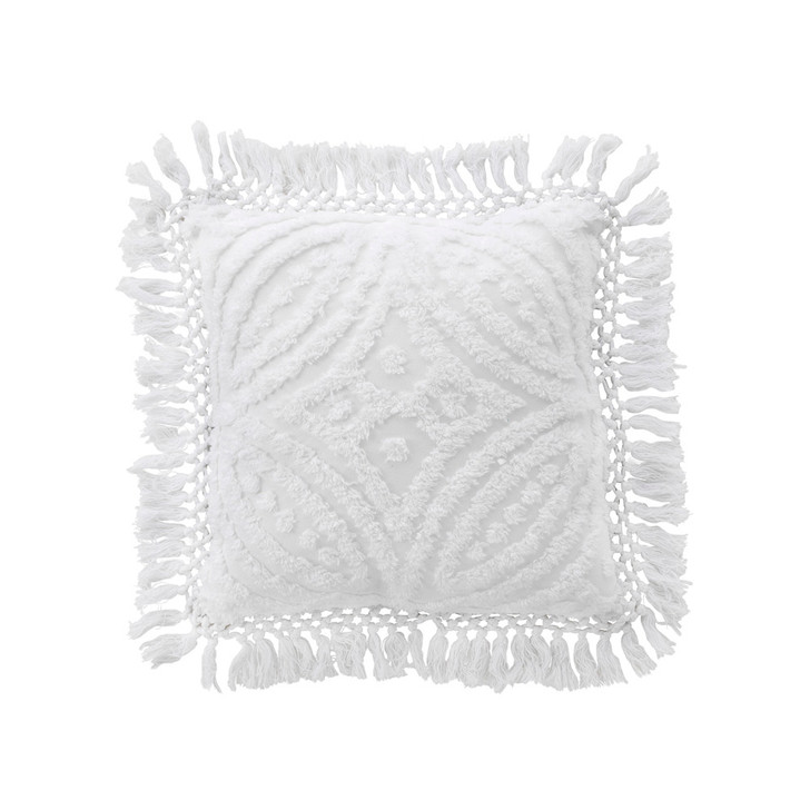 Bianca Savannah White Square Filled Cushion | My Linen