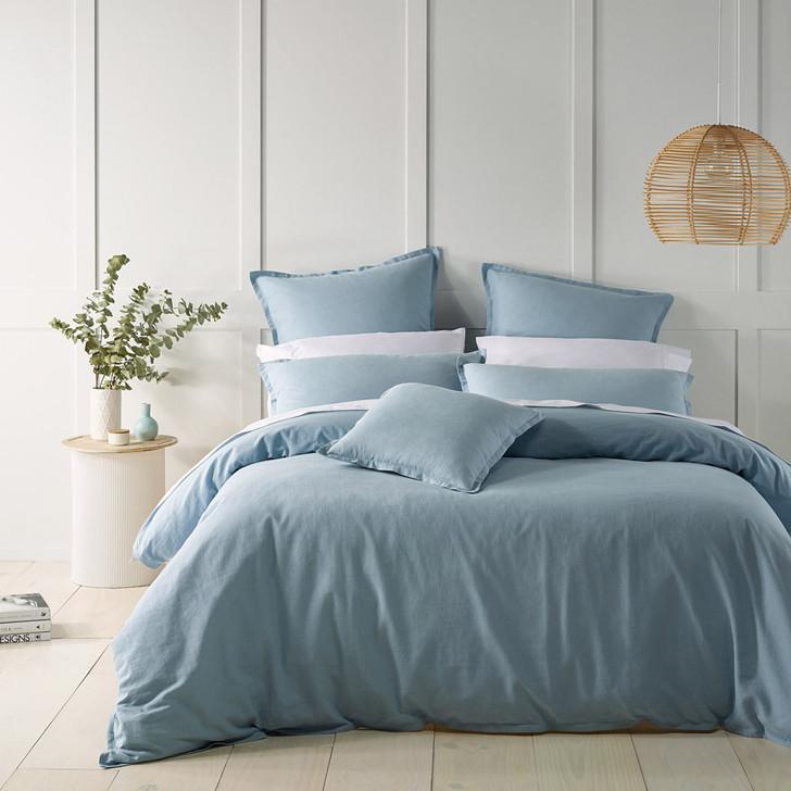 Bianca Wellington Blue King Bed Quilt Cover Set   My Linen