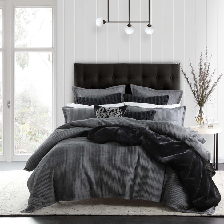Private Collection Angus Slate King Bed Quilt Cover Set | My Linen