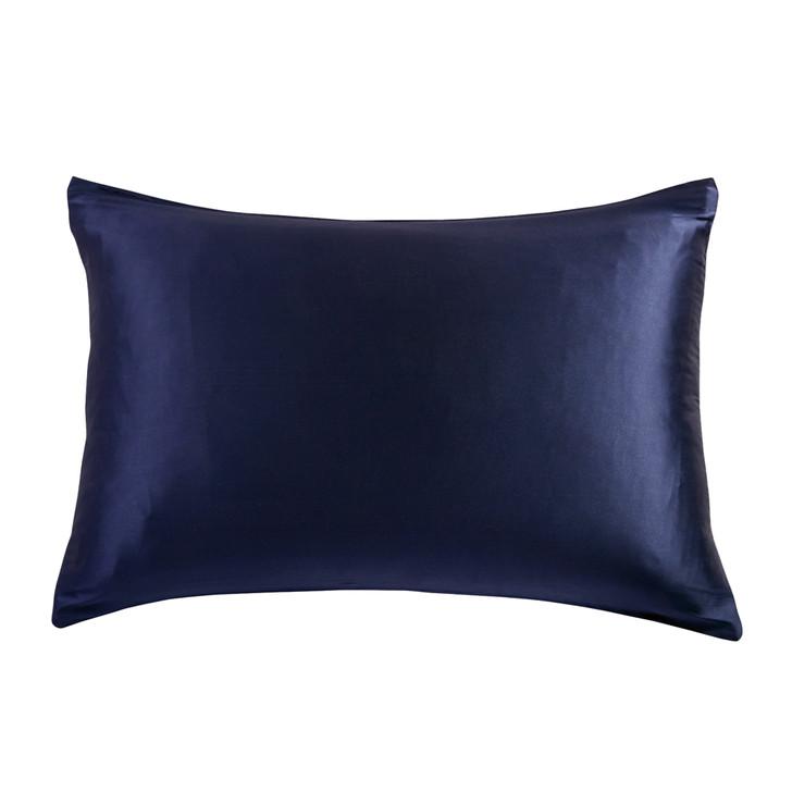 Gioia Casa 100% Mulberry Silk Luxury Navy Standard Pillowcase | My Linen