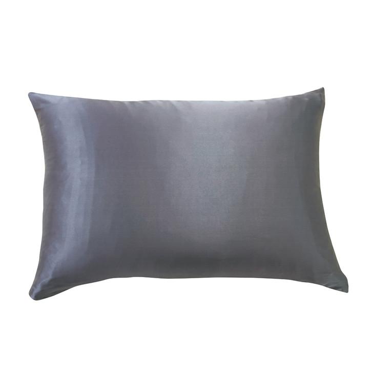 Gioia Casa 100% Mulberry Silk Luxury Charcoal Standard Pillowcase | My Linen
