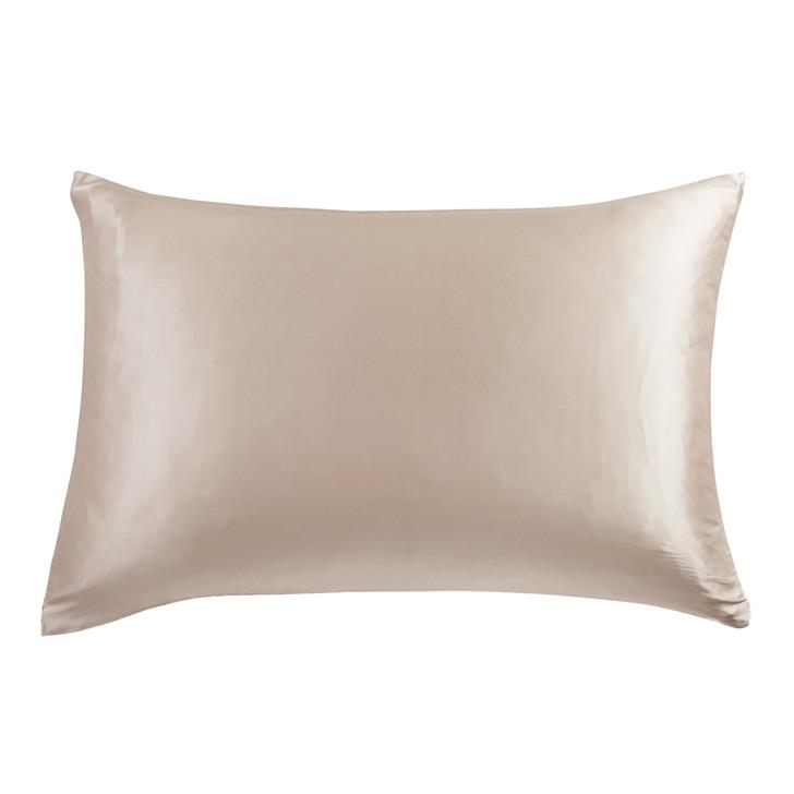 Gioia Casa 100% Mulberry Silk Luxury Champagne Standard Pillowcase | My Linen
