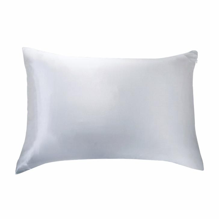 Gioia Casa 100% Mulberry Silk Luxury Silver Standard Pillowcase | My Linen
