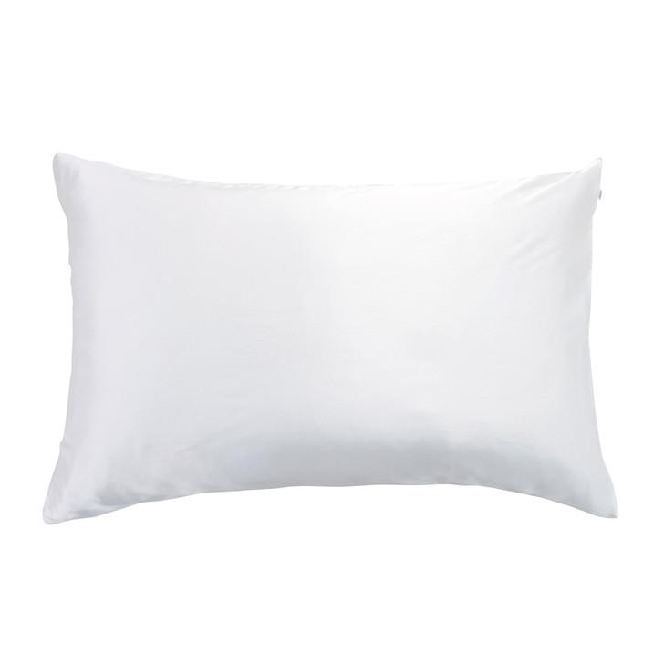 Gioia Casa 100% Mulberry Silk Luxury White Standard Pillowcase | My Linen