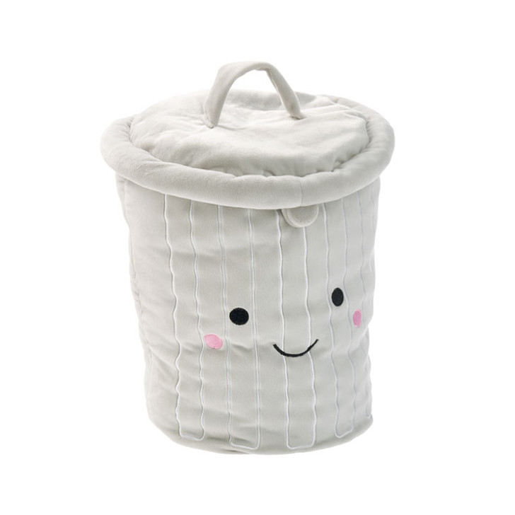 Hiccups Gary Garbage Bin Novelty Filled Cushion Detail   My Linen