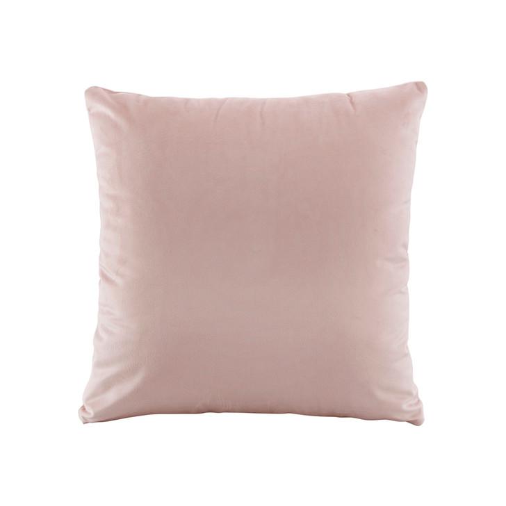 Bianca Vivid Blush Velvet Square Filled Cushion   My Linen