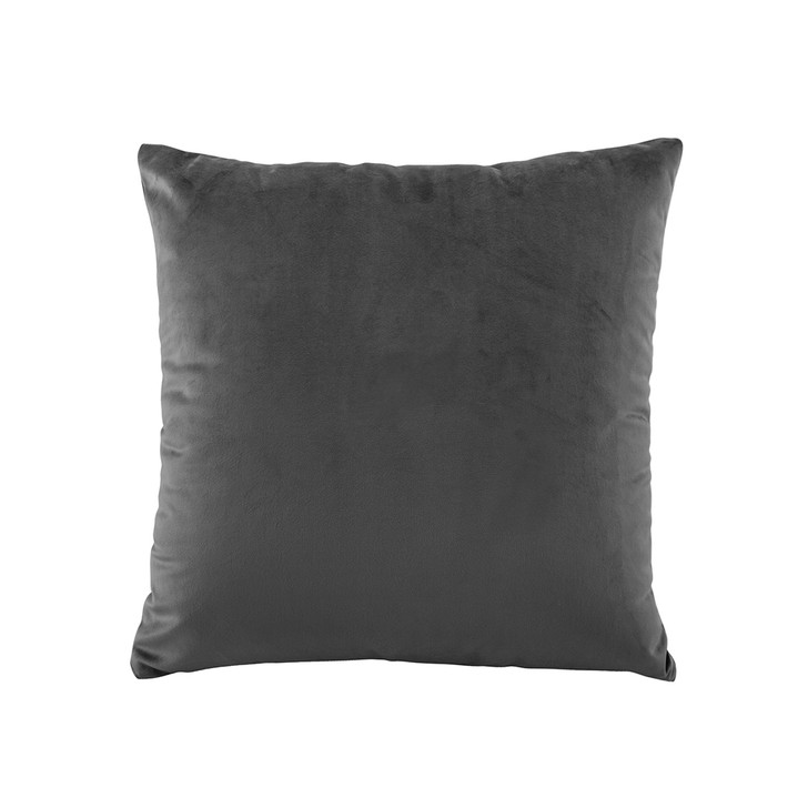 Bianca Vivid Coal Velvet Square Filled Cushion | My Linen