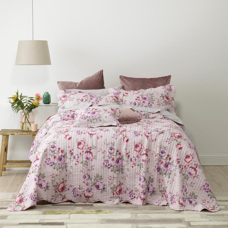 Bianca Dahlia Lilac Queen Bed Bedspread Set | My Linen