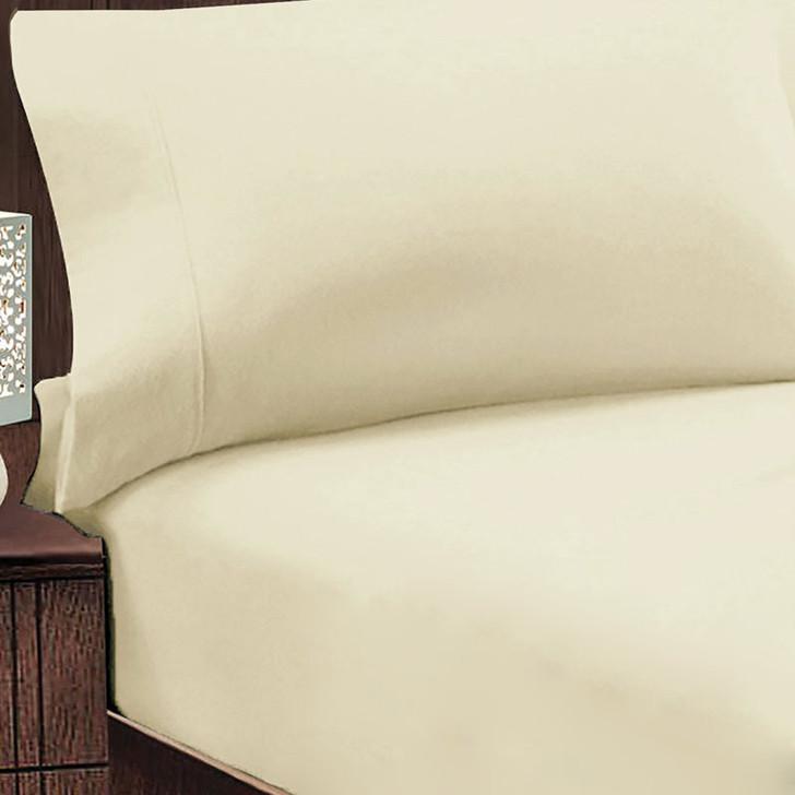 Jenny Mclean Abrazo 100% Cotton Flannelette Single Bed Combo Ivory | My Linen