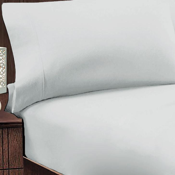 Jenny Mclean Abrazo 100% Cotton Flannelette King 50cm Bed Combo Silver | My Linen