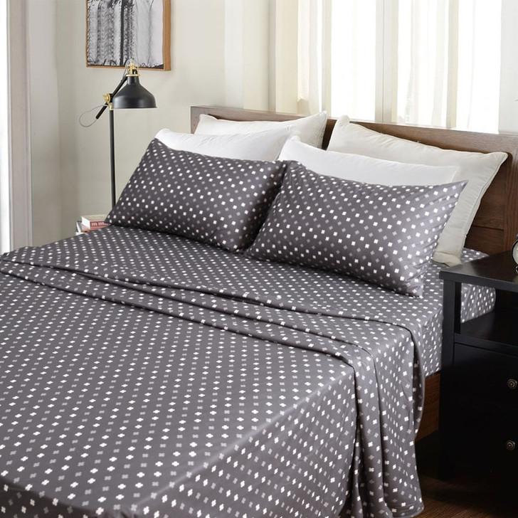 Kingtex Micro Flannel 40cm Double Bed Sheet Set Add It Up | My Linen