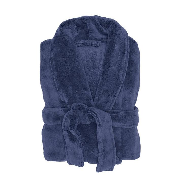 Bambury Microplush Bathrobe Denim Medium / Large   My Linen